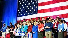 Unterstützer der Tea-Party-Ikone Michele Bachmann (Archivbild)
