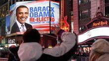 Obamas Wiederwahl: Tränen, Küsse, Jubel