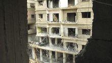 Zerstörtes Haus in Daraja, einem Vorort von Damaskus