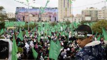 Hamas-Anhänger im Zentrum von Gaza-Stadt