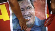 Plakat aus dem Präsidentschaftswahlkampf von Hugo Chávez