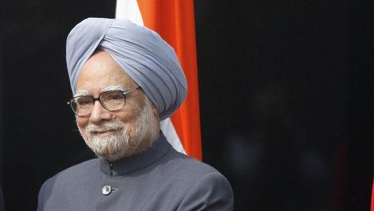 Der indische Ministerpräsident Manmohan Singh während eines Auftritts in Neu-Dehli