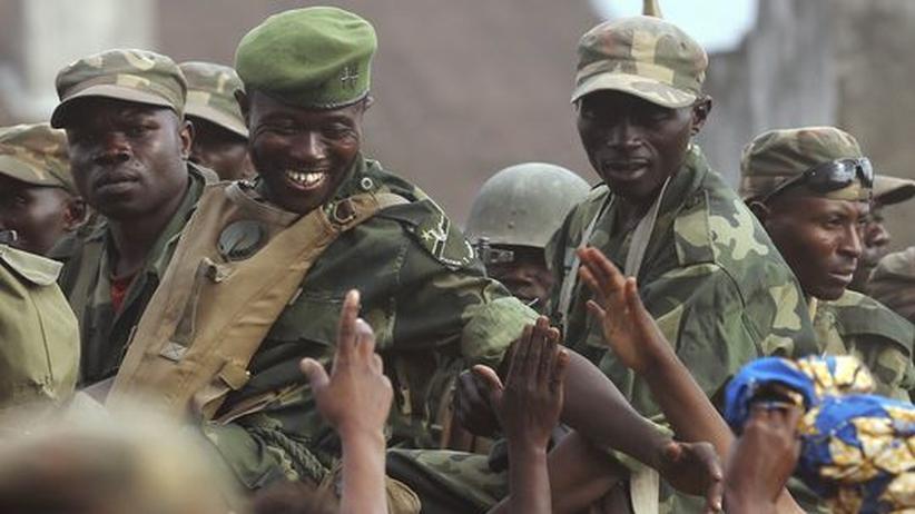 Ankunft der kongolesischen Armee in Goma
