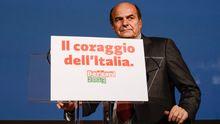 Pierluigi Bersani, der Spitzenkandidat des Mitte-Links-Bündnisses für die Parlamentswahl in Italien