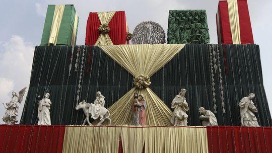 Eine Darstellung der Geburtsgeschichte von Jesus Christus in Nigeria