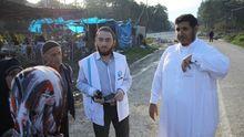 Saad al-Shumari im Einsatz an der syrisch-türkischen Grenze