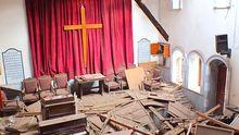 Eine Kirche in Homs: Die Kämpfe zwischen den religiösen Gruppen werden heftiger.