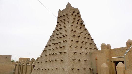 Ein Mausoleum in Timbuktu
