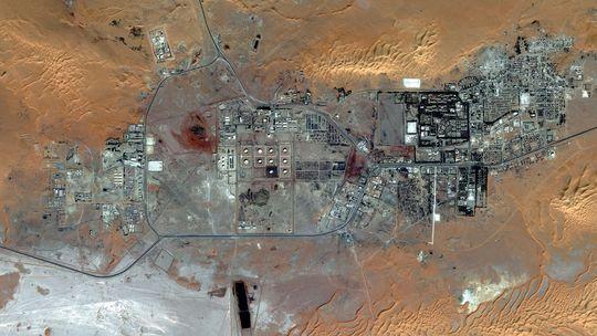 Luftbild von dem Gasfeld In Amenas vor dem Angriff von Islamisten
