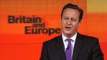 Großbritanniens Premier David Cameron während seiner Europa-Rede in London