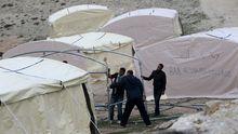 Palästinenser-Zeltlager zwischen Jerusalem und Maale Adumim