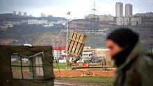 Eine Einheit des Iron-Dome-Raketenabwehrsystems nahe Haifa im Norden Israels