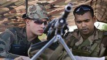 Französische Soldaten an einem Kontrollpunkt in Malis Hauptstadt Bamako