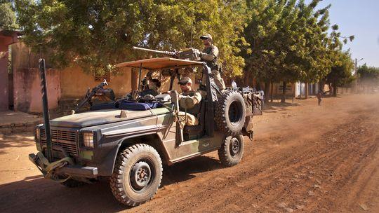 Angehörige der französischen Spezialeinheit in Markala, etwa 275 km von Malis Hauptstadt Bamako entfernt