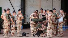 Französische Soldaten auf eine Militärbasis in Mali