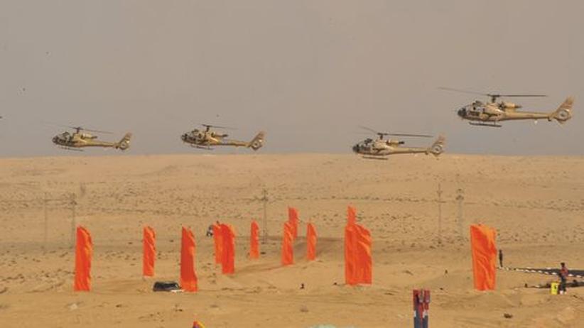 Manöver des ägyptischen Militärs auf dem Sinai