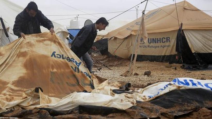 Jordanien: Im Schlamm warten sie auf Frieden in Syrien