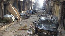 Straße in der syrischen Stadt Homs