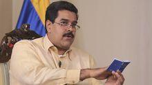 Venezuelas Vizepräsident Nicolas Maduro im Interview mit dem Staatsfernsehen