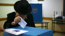 Israelischer orthodoxer Jude bei der Wahl 2009