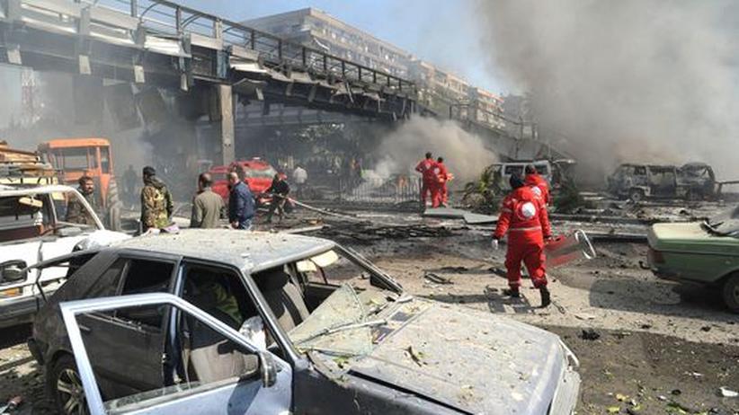 Syrien: Zahlreiche Menschen sterben durch Anschlagsserie in Damaskus