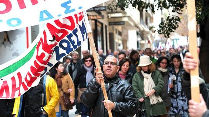 Wirtschaftskrise: Journalisten eröffnen Großstreik in Griechenland