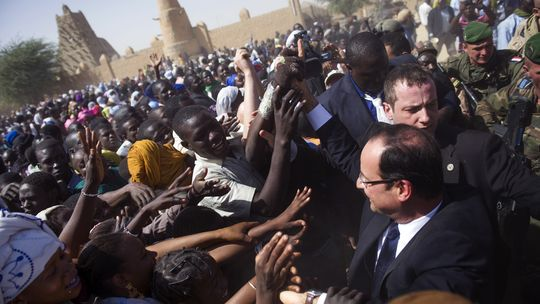 Frankreichs Präsident François Hollande in Timbuktu