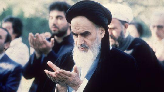 Der Iranische Revolutionsführer Ajatollah Ruhollah Chomeini