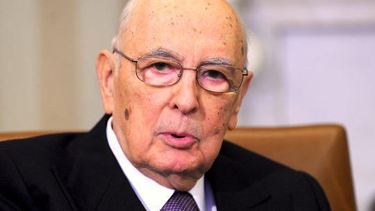 Der italienische Staatspräsident Giorgio Napolitano