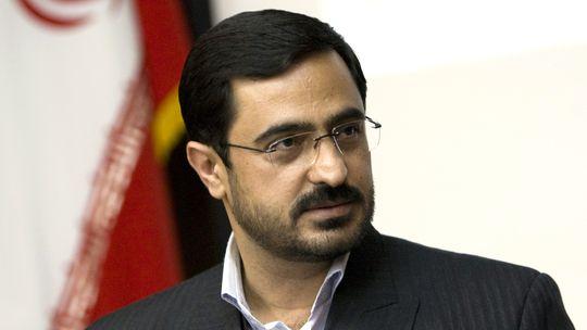 Said Mortasawi Mitte April 2009 auf einer Pressekonferenz in Teheran