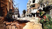 Syrische Soldaten in der Provinz Damaskus (Archiv)
