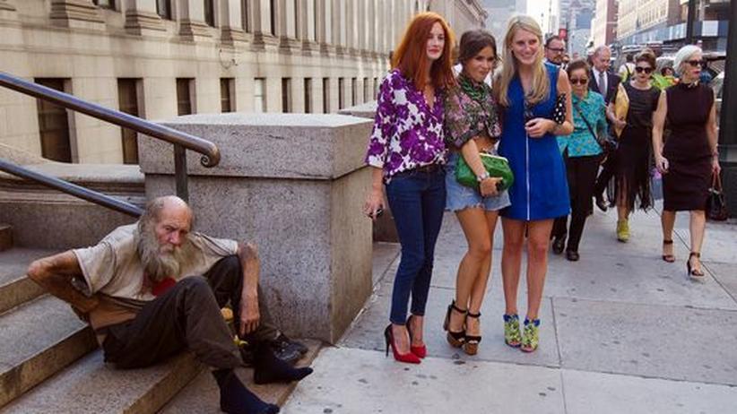 Soziale Gerechtigkeit: Straßenszene in New York