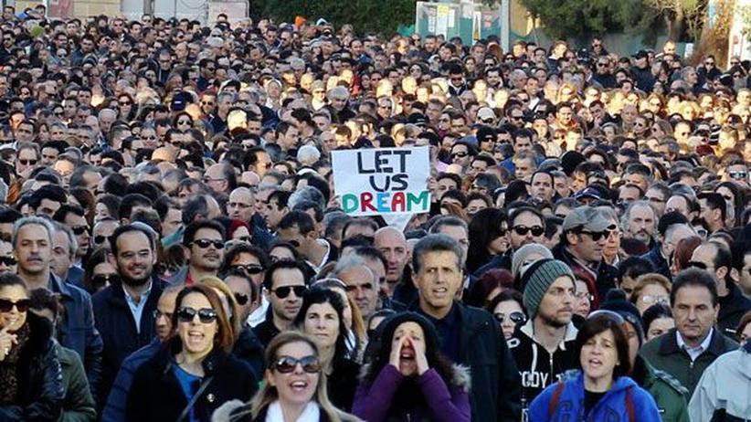 Zypern: Protest in Nikosia