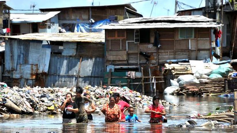 Überflutungen südlich von Djakarta