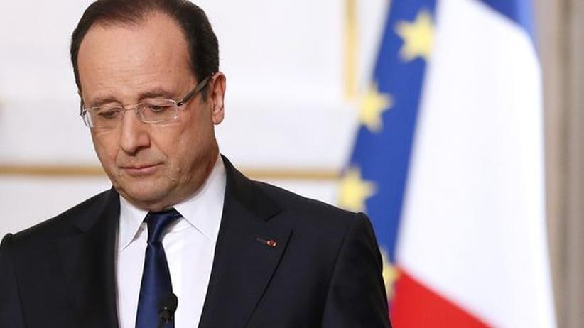 Frankreich: Angeschlagen: der französische Präsident Francois Hollande und seine sozialistische Regierung