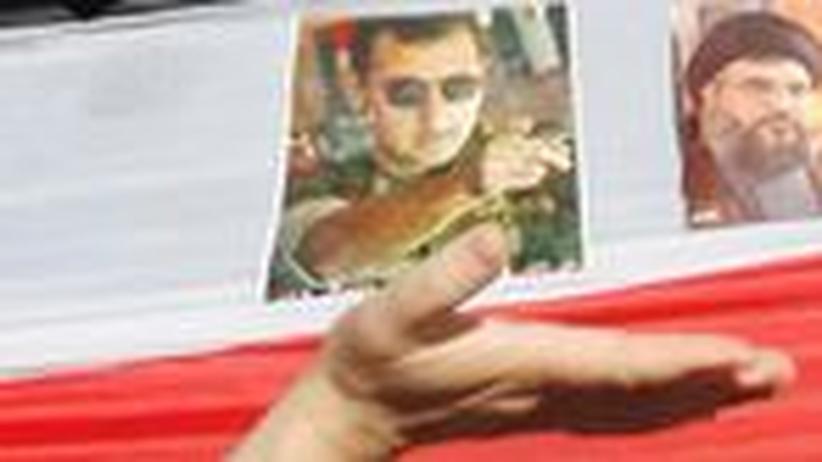 Pro-Assad-Demonstranten in der Stadt Sidon, Libanon