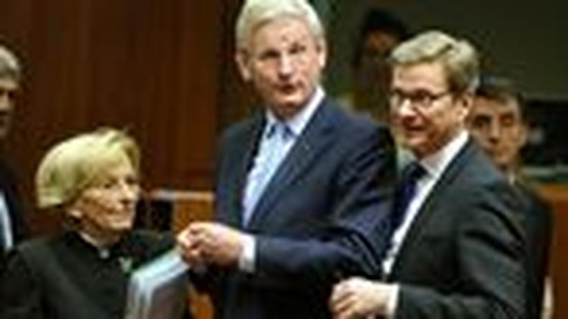 Syrien-Krieg: Die Außenminister Italiens, Schwedens und Deutschlands, Emma Bonino, Carl Bildt und Guido Westerwelle