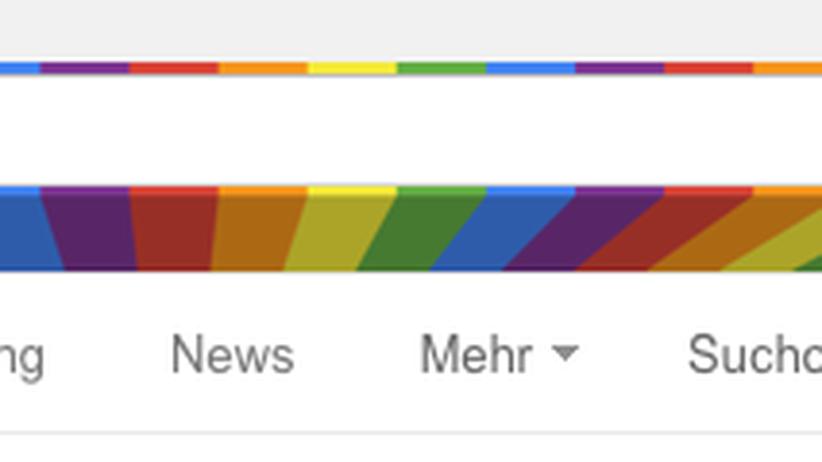 """Google zeigt beim Suchbegriff """"gay"""" das Symbol der Schwulen- und Lesbenbewegung, die Regenbogenfahne."""