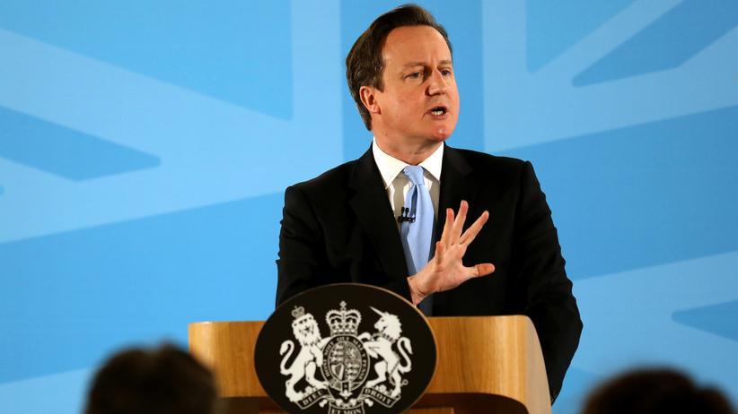 Ausländerpolitik: Großbritanniens Premier David Cameron bei einer Rede zur Einwanderungspolitik (Archiv)