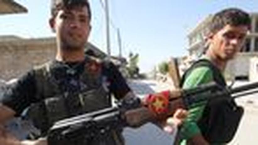 Kurdische Kämpfer in Aleppo
