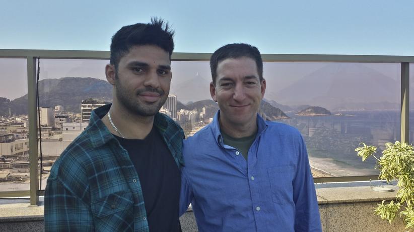 Journalist Greenwald: Journalist Glenn Greenwald (rechts) und sein Lebenspartner David Miranda