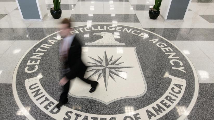US-Geheimdienste: Emblem der CIA im Hauptquartier in Virginia