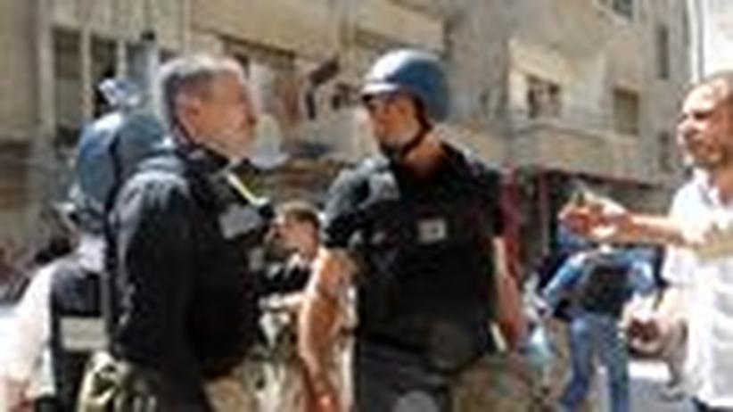 Syrien: UN-Inspekteure während ihrer Untersuchung Ende August in Syrien