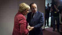 Der französische Präsident François Hollande und Bundeskanzlerin Angela Merkel auf dem EU-Gipfel in Brüssel