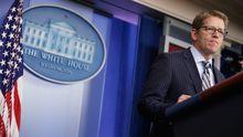Präsidentensprecher Jay Carney bei einer Pressekonferenz im Weißen Haus