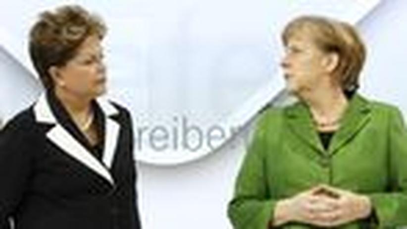 Brasiliens Präsidentin Dilma Rousseff und Bundeskanzlerin Angela Merkel