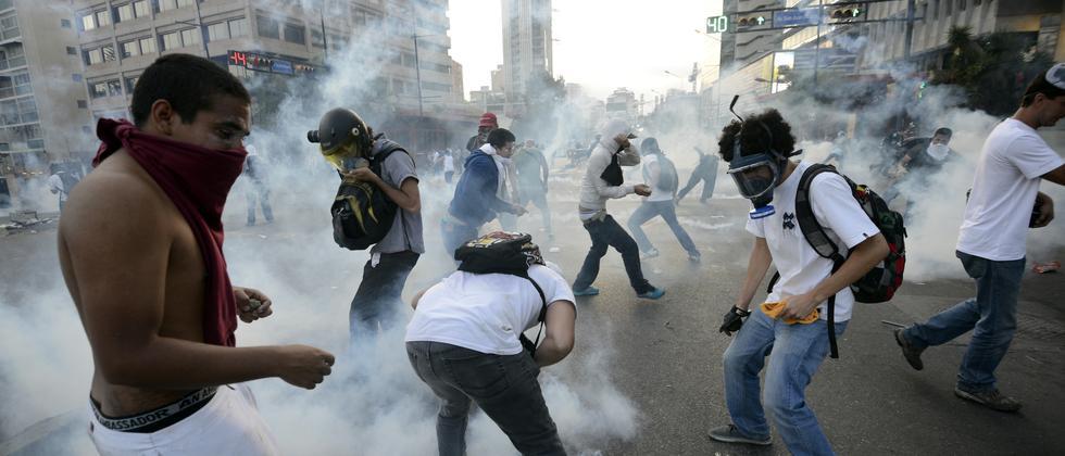 Caracas Unruhen Proteste