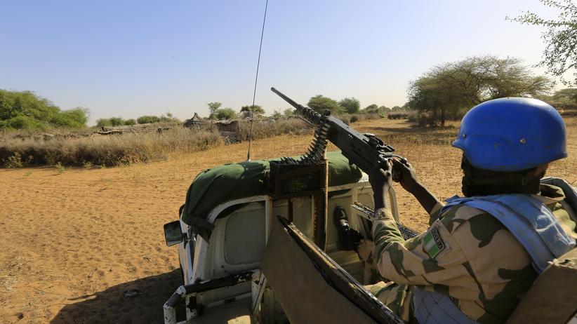 Unamid-Soldat in Darfur