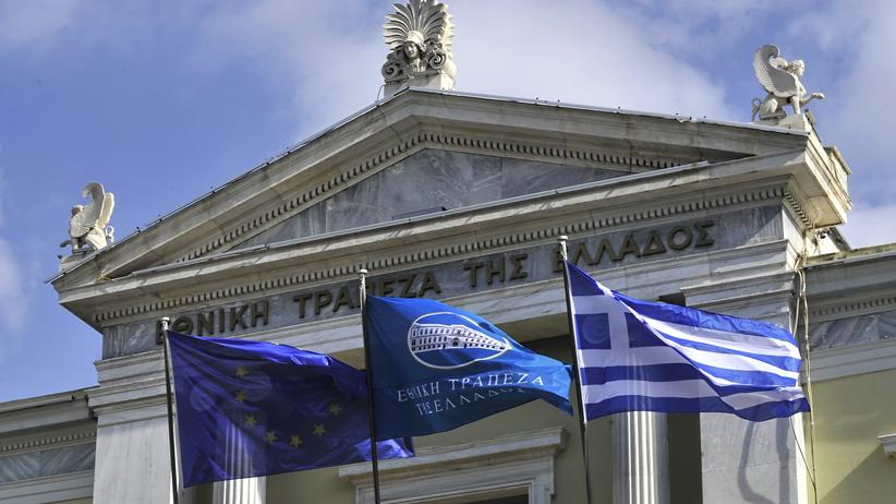 Euro-Krise: Die National Bank of Greece in Athen