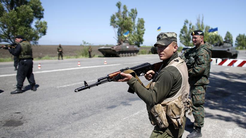 US-Sicherheitsfirma : Ukrainische Soldaten im Einsatz
